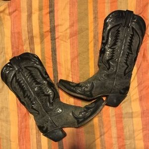 908df73b4aa CORRAL EAGLE INLAY BLACK WESTERN BOOTS SIZE 8M